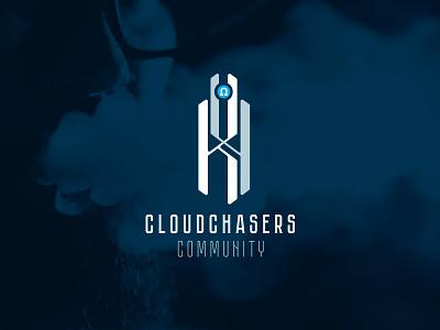 K4 - cloud chasers: vaping community smoking smoke clouds vaporizer vapor vaping vaper vape logotype design vector logo design logo development logodesign design branding logotype logo