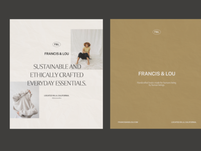 Typography layout for Francis&Lou