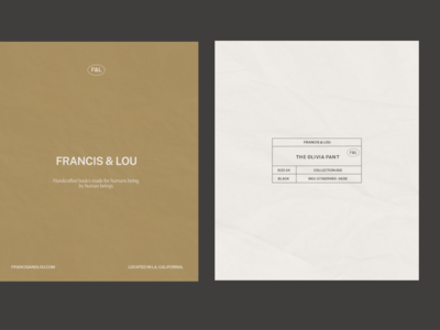 Typography layout for Francis&Lou pt. 02