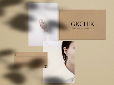 Okchik Logo Concept custom type branding logo