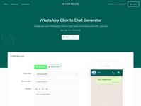 Whatsweb - WhatsApp Click to Chat Generator