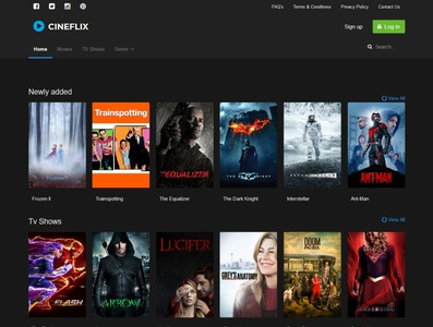 Cineflix - Movies & TV Shows Info PHP Script movies watch online platform streaming youtube show tv movie