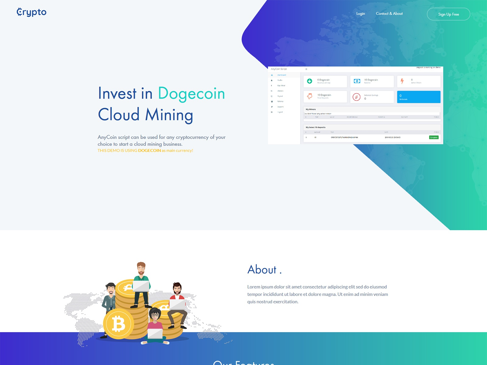 dogecoin script cloud mining cryptocurrency