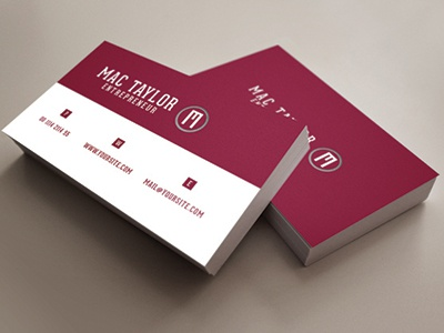entrepreneur business card by codegrape dribbble
