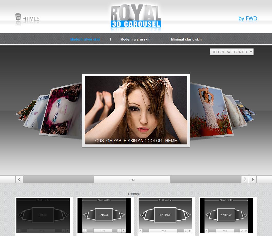 Карусель фотографий для сайта