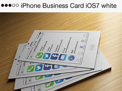 Iphone business card ios7 white by codegrape dribbble dr reheart Gallery