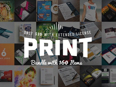 Royal Print Templates Bundle with 160 Items - Only $39 magazine resume letterhead stationery brochure flyer card deal bundle template print