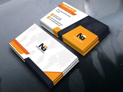 Corporate Business Card print modern designer creative card business