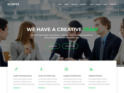 Bumper - Material Design Agency Template css3 html5 business bootstrap agency responsive modern creative corporate