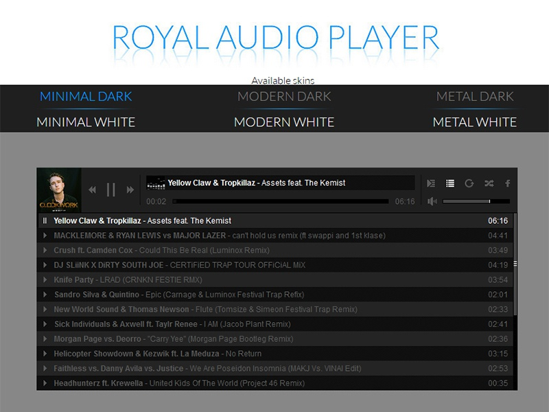 Royal Audio Player by CodeGrape on Dribbble
