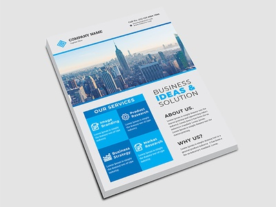 Corporate Flyer modern creative clean a4 branding marketing flyer corporate