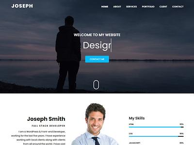 Joseph - Personal Portfolio HTML Template html5 css3 modern minimal clean responsive nice freelancer cv portfolio creative bootstrap