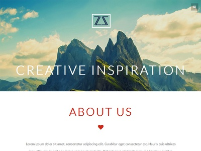 ZA. Studio - Responsive One Page Template moderm one page portfolio product clean about business html5 css3 js responsive