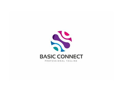 Global Connect Logo data corporate cooperate connectivity connection connect clean circle business logo base