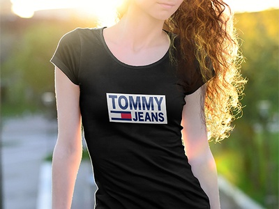 TOMMY JEANS T-shirt graphics eyecatching design custom colorful clothing tshirt brand apparel