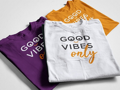 GOOD VIBES only T-shirt Design funny eyecatching design custom colorful clothing tshirt brand apparel