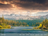 QDesign - Parallax One Page HTML Template