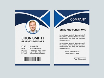 ID Card Template id card design corporate advertisement advert