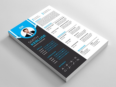 Resume / CV Template msword indesign template creative letter cover resume cv