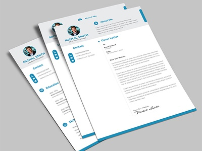 Resume CV Template professional portfolio job docx letter resume cv