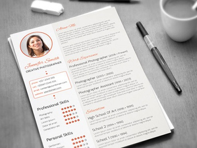 creative curriculum vitae by codegrape dribbble dribbble