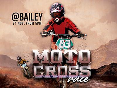 Motocross Race Flyer modern print design flyer professional clean creative brown motocross moto race