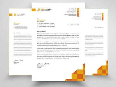 Corporate Letterhead Design psd docx identity branding letterhead unique