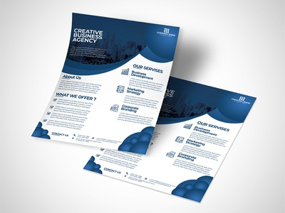 Business Flyer clean blue corporate business flyer