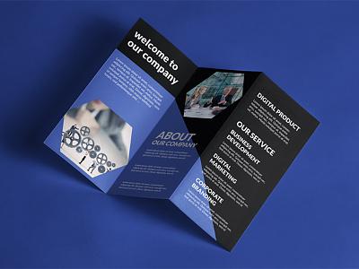 Corporate Tri-Folded Brochure business brochure publisher flyer agency advertisement advert ad