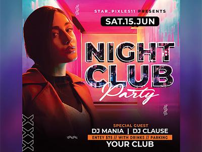 Night Club Flyer flyer club celebration birthday bash party work