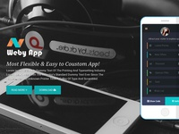 Weby App - Mobile App Landing Page Template