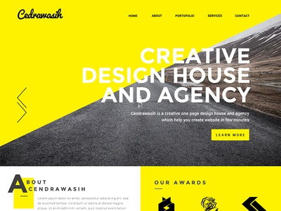 Cendrawasih Creative One Page Psd Template By Codegrape Dribbble