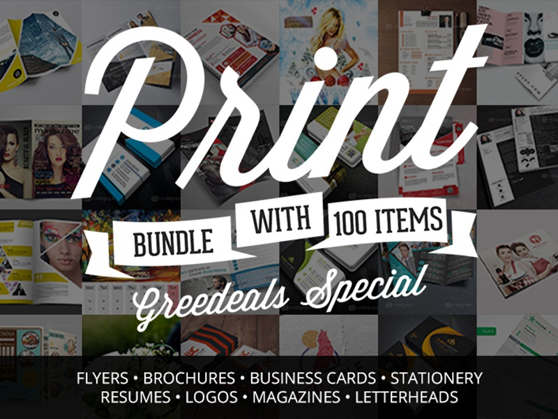 Pack Of 100 Flyers, Brochures, Business Cards & Misc