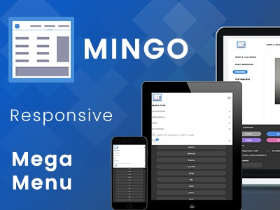 Mingo - Responsive Jquery Mega Menu Plugin seo responsive navigation menu mega jquery image horizontal grid flyout dropdown customizable