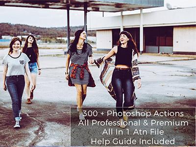 300+ Premium Photoshop Actions effect light dark creative contrast bundle broepic addons action