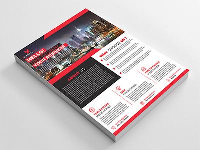 Corporate Flyer business company corporate flyer developer stylish modern sleek bold
