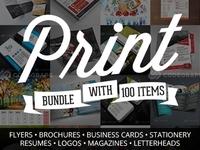Webmasterdeals 100 print templates bundle