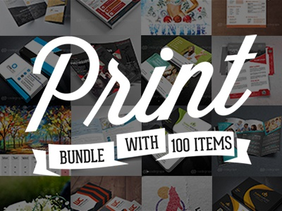 100 Print Templates Bundle with an Extended License - Only $19 print template bundle webmasterdeals flyer brochure card stationery resume logo magazine letterhead