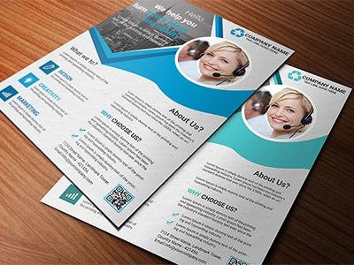 Corporate Flyer Template modern cmyk professional flyer corporate