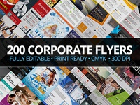 200 Corporate Flyers with Extended License