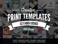 Creative Print Templates Bundle with 140 Items - Only $29
