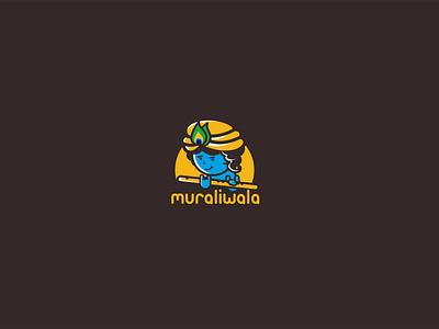 Mascot logo design krishna mascot creative logo design
