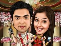 Bangali Wedding Caricature