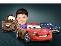 Super Car Caricature