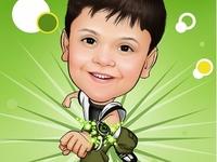 Kids Caricature Gifterman