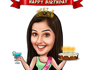 Personlised Birthday Caricature