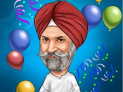 Father Birthday Caricature