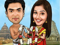 Thamil Wedding Caricature
