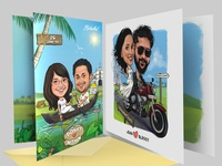 Wedding Invitation Caricature