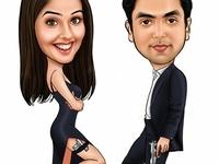 Movie Wedding Caricature